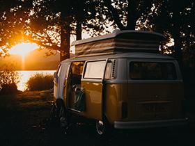 Mit VW-Bus durch Corona