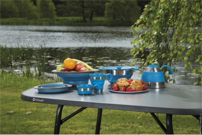 Outwell Collaps camping tableware save space with its foldable construction