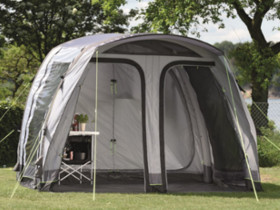 Quickly set up by inflating its air tubes: the Smart Air (SA) drive-away awnings