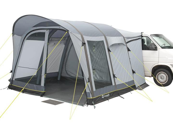 Das kompakte Zelt: Einraum-Busvorzelte mit ca. 8 qm Bodenmaß