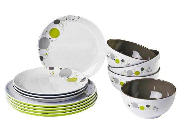 Kleine Sets: 12 Teile aus unterschiedlichen Kombinationen von Tellern, Tassen & Schüsseln