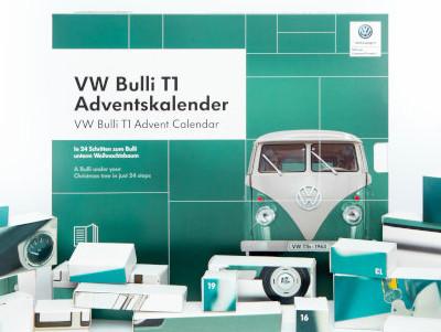 Das perfekte GeschenkIn nur 24 Tagen zum Bulli-Modellauto Ihrer Träume. Basierend auf dem Originalmodell des VW Bulli T1 von 1963.
