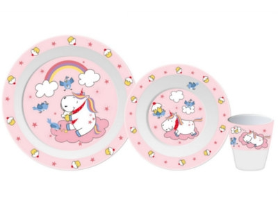 Oh so sweet:The new children's tableware with unicorns