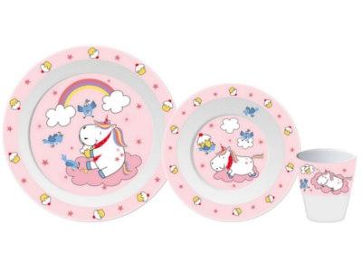 Zuckersüß!Das neue Kindergeschirr von Gimex mit Einhorn und Cupcakes