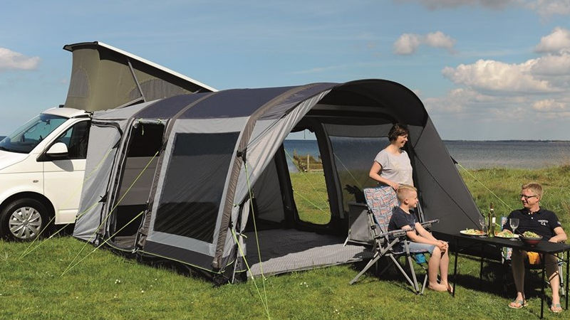 Space for the whole family The drive-away awnings by Outwell offer living room and sleeps for up to 5 persons
