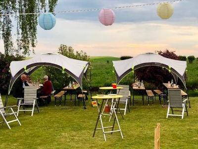 Für den Garten oder unterwegs Der Pavillon Day Shelter von Outwell verlängert bei uns die Saison für Gartenparties